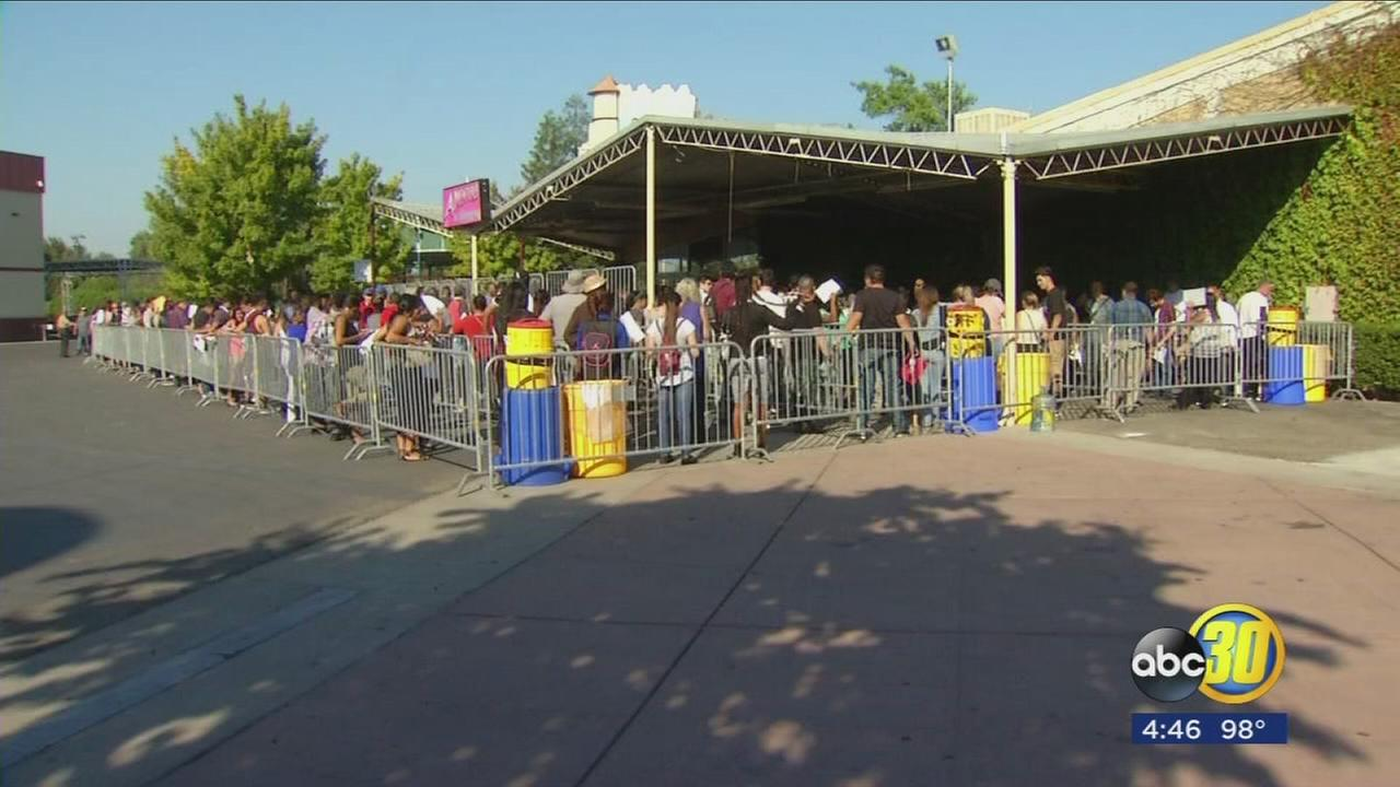 Hundreds of people lined the Big Fresno Fairgrounds for 7th annual job fair