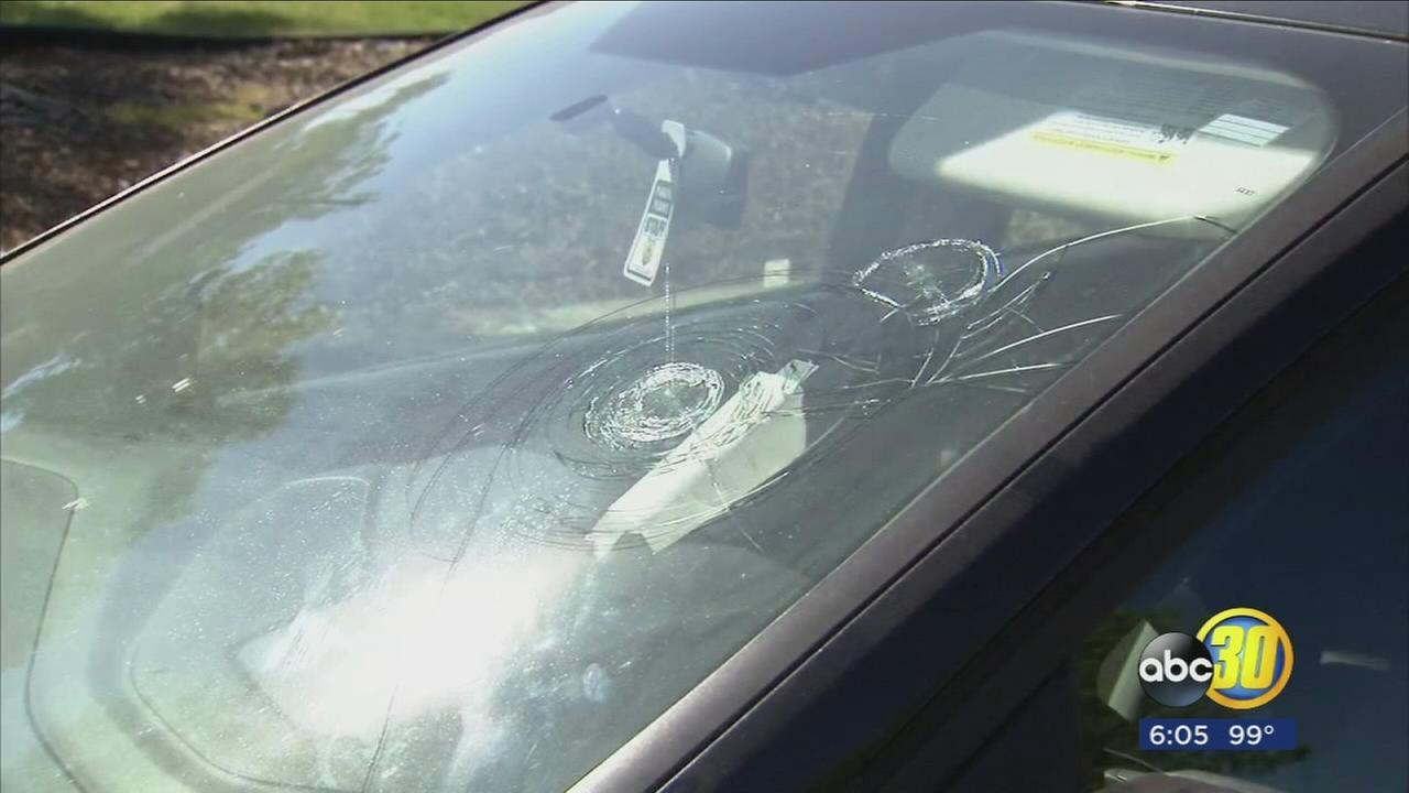 Police say they are searching for suspects who vandalized string of cars in Hanford