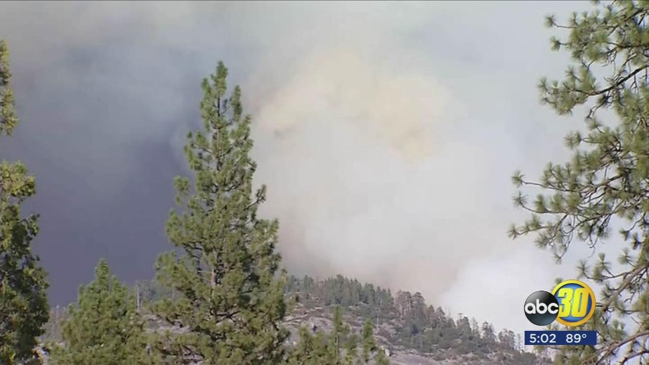 More than 200 fire crews in Yosemite National Park trying suppress the South Fork Fire