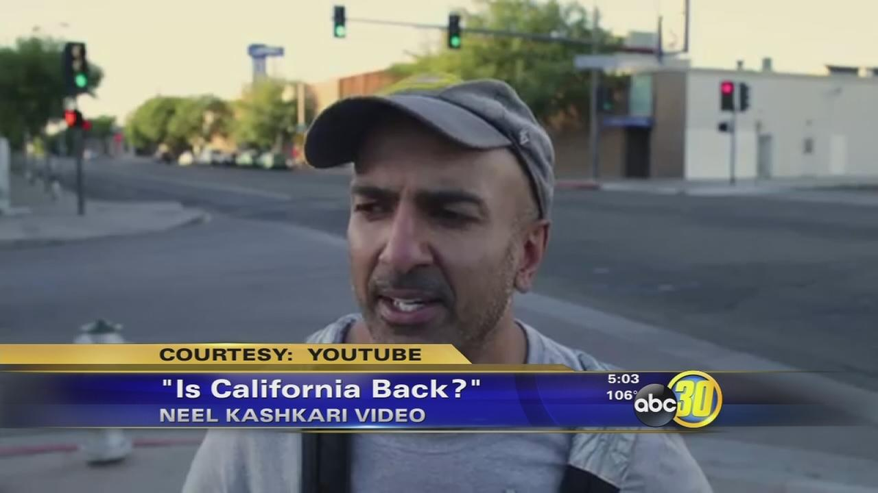 Neel Kashkari poses as a homeless man in campaign video filmed in Fresno