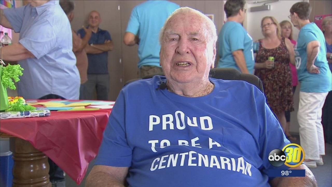 World War II veteran celebrates 100th birthday in Clovis