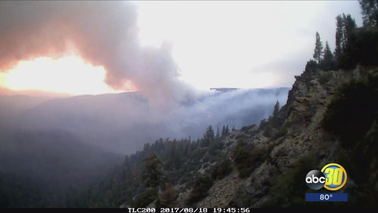 Thunderstorms making fight to control South Fork Fire unpredictable