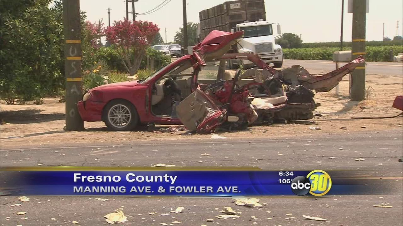 Two killed in Fresno County hit and run crash