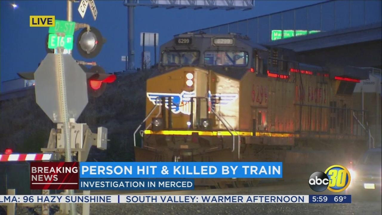 Man hit and killed by train in Merced