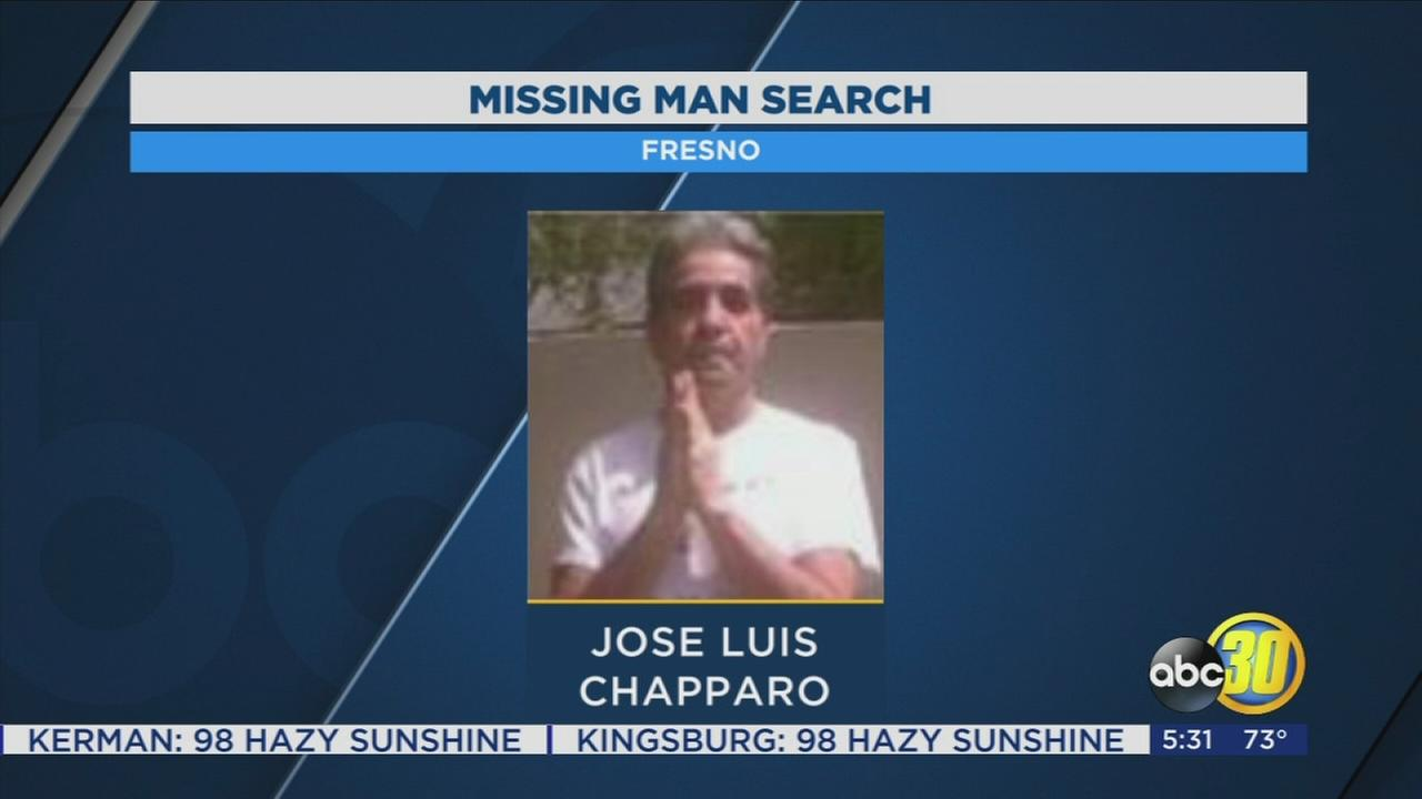 Police are searching for a missing man in Fresno