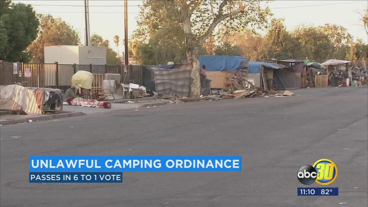 Fresno City Council approves ban on homeless camping