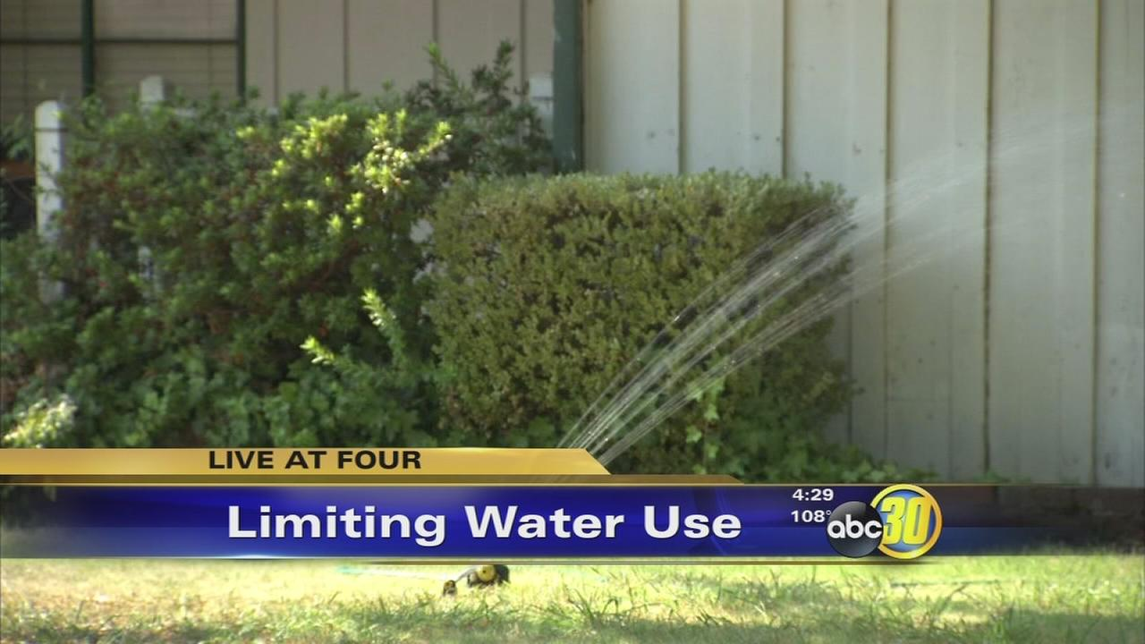 First day of strict new water restrictions in the city of Fresno