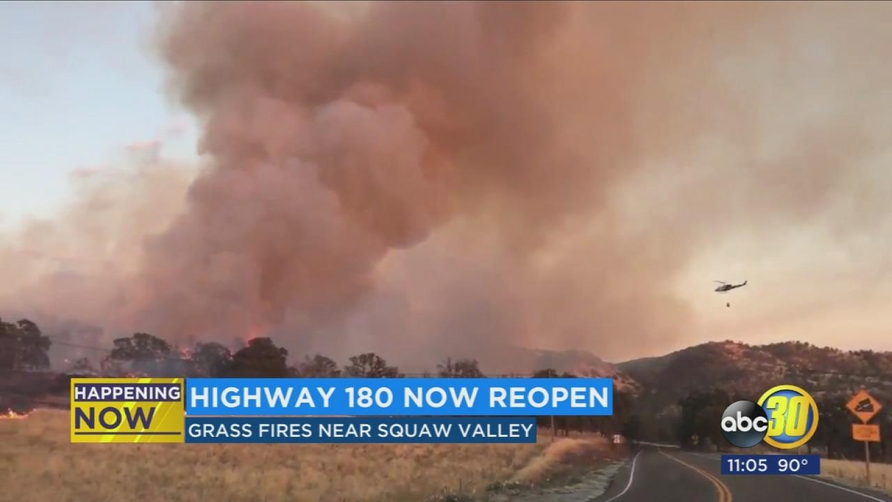 Highway 180 back open after Hill Fire prompts closure