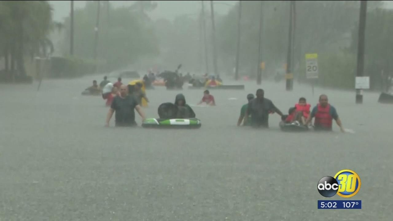 Valley natives affected by Hurricane Harvey looking for answers among the chaos