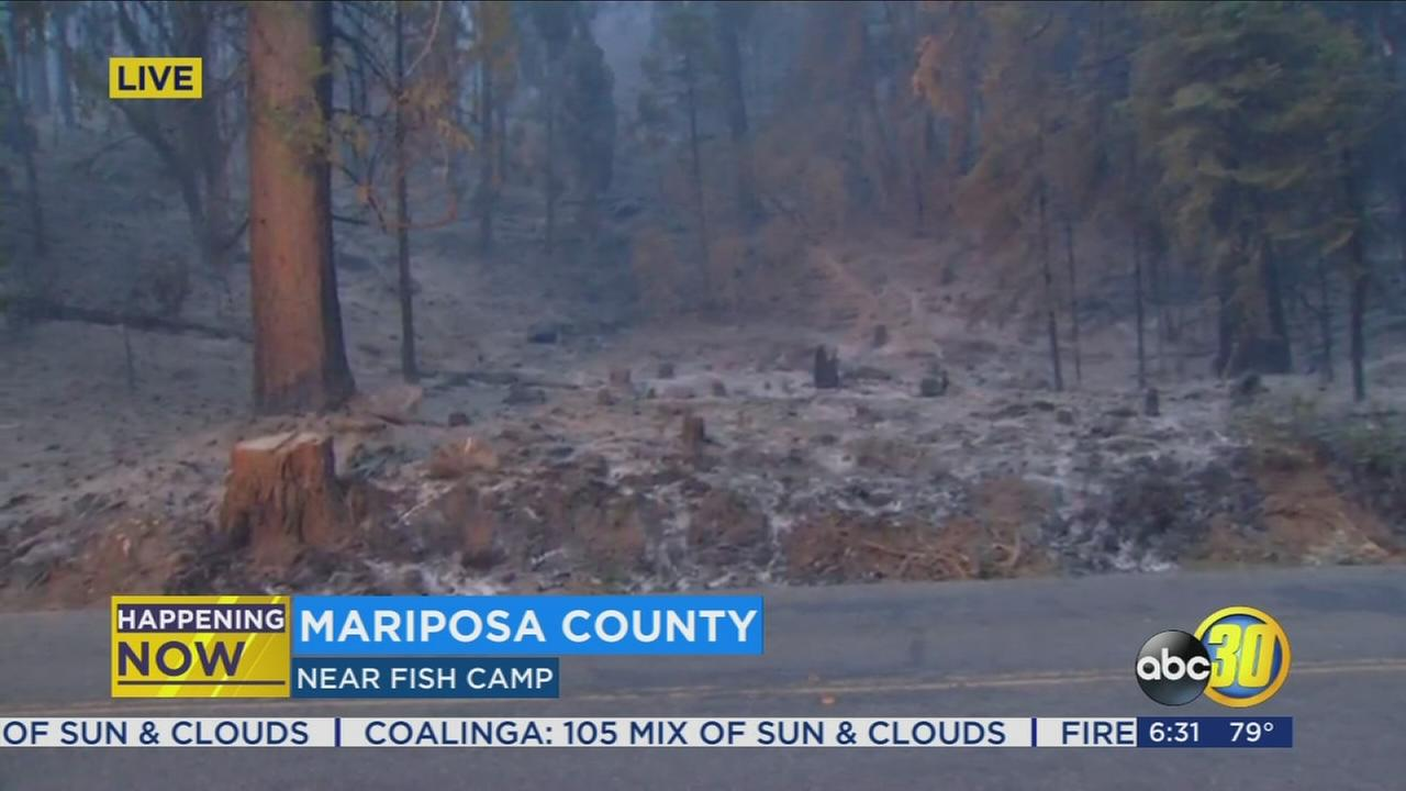 Mandatory evacuation issued for all of Fish Camp due to the Railroad Fire