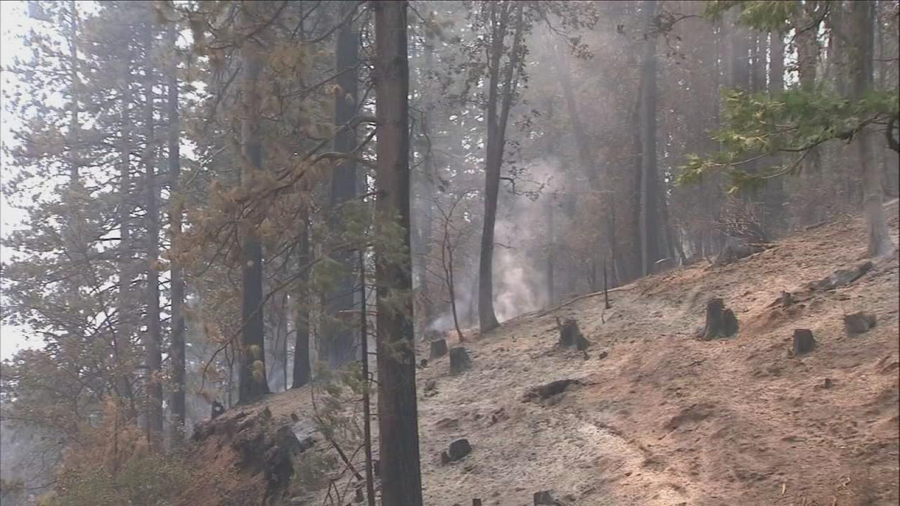 Temperatures and steep terrain posing challenge for crew members fighting Railroad Fire South of Yosemite