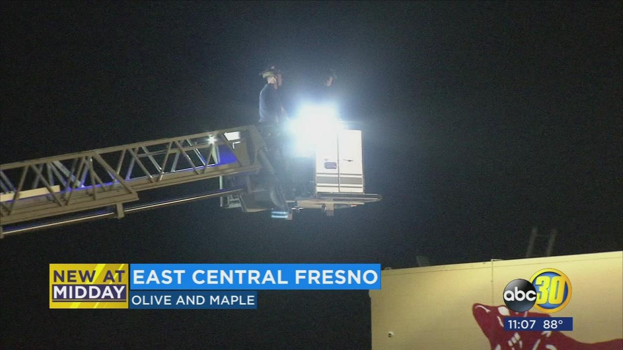 Burglary suspect caught on roof of grocery store in Fresno