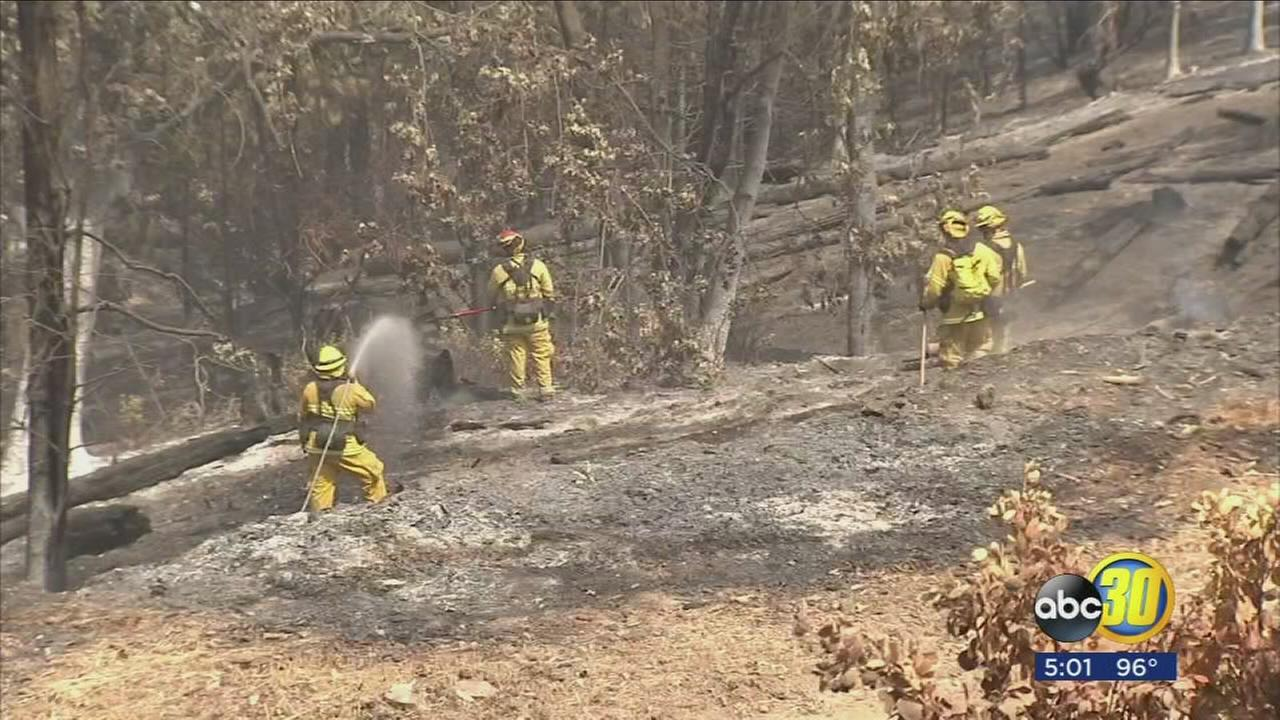 Several wildfires in the Central California mountains cause smoky air, threaten communities