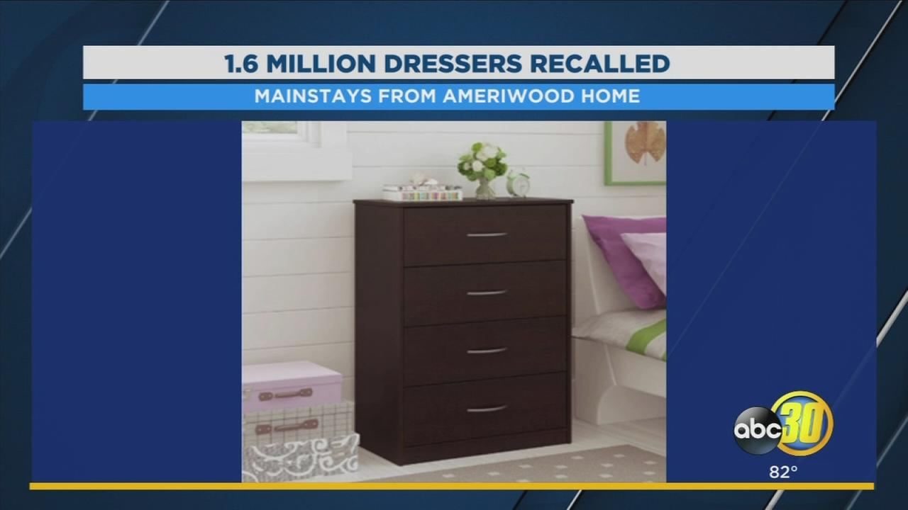 More than 1-million pieces of furniture being recalled due to tipping hazard