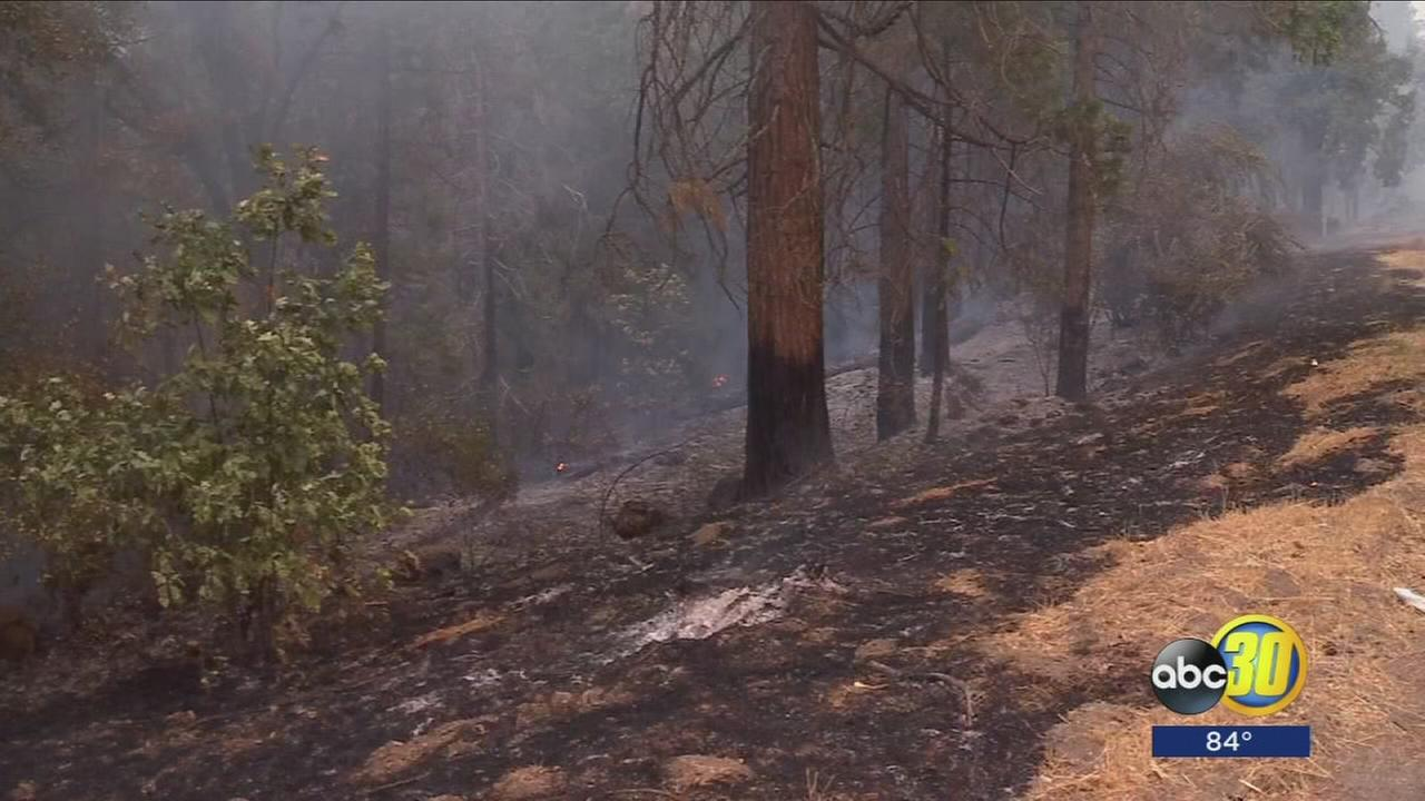 Members of North Fork Rancheria Tribe concerned about Mission Fire burning near tribal land