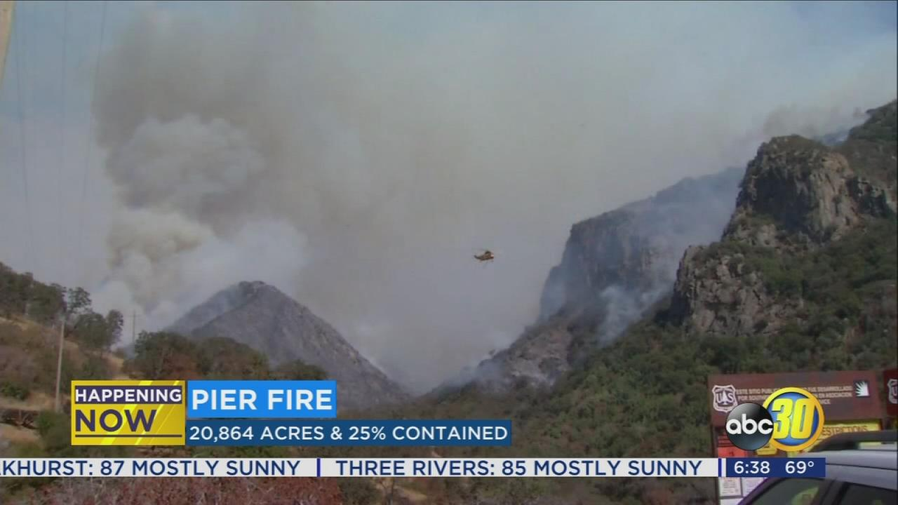 Pier Fire, Railroad Fire, Mission Fire and Peak Fire continue to burn in Central California