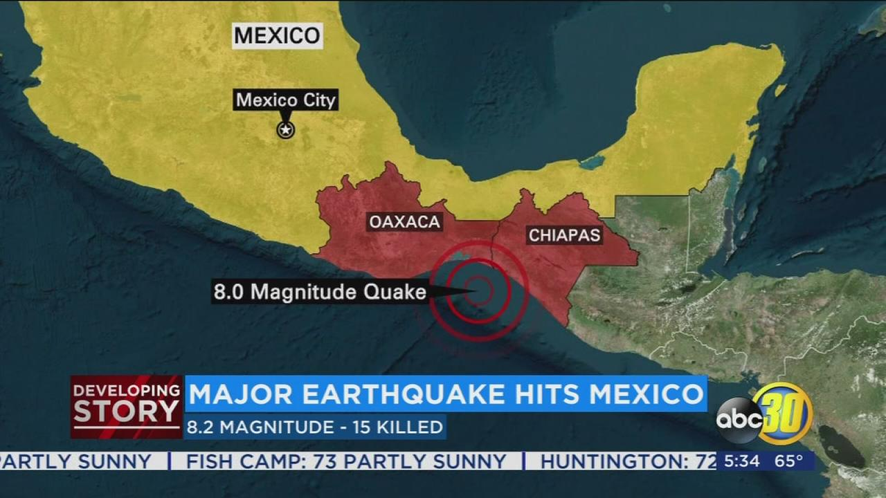 15 killed after Mexico hit by one of biggest quakes ever
