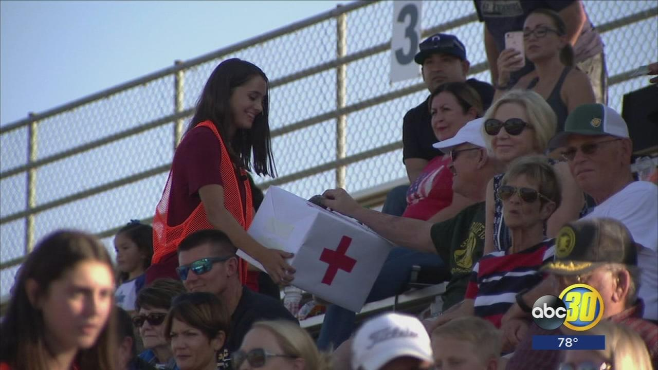 Hanford football game turned into fundraiser for Hurricane Harvey victims