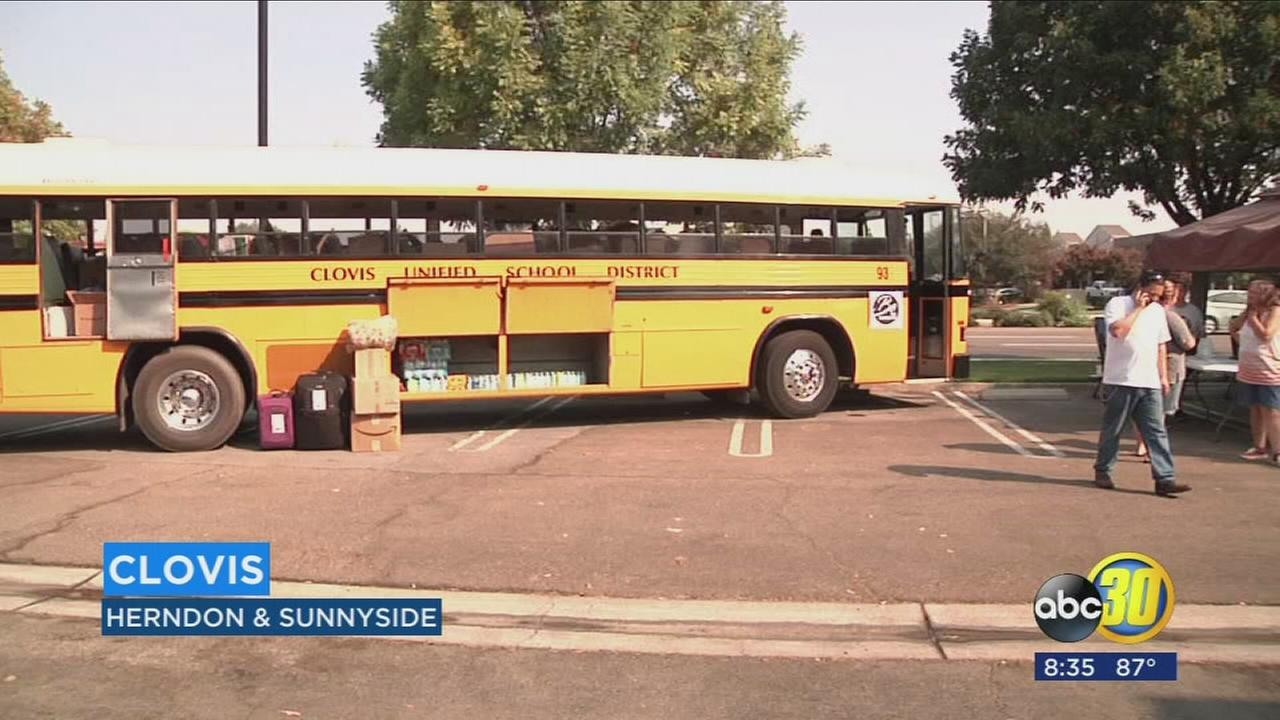 Clovis Unified students, bus drivers unite to deliver relief to Harvey victims