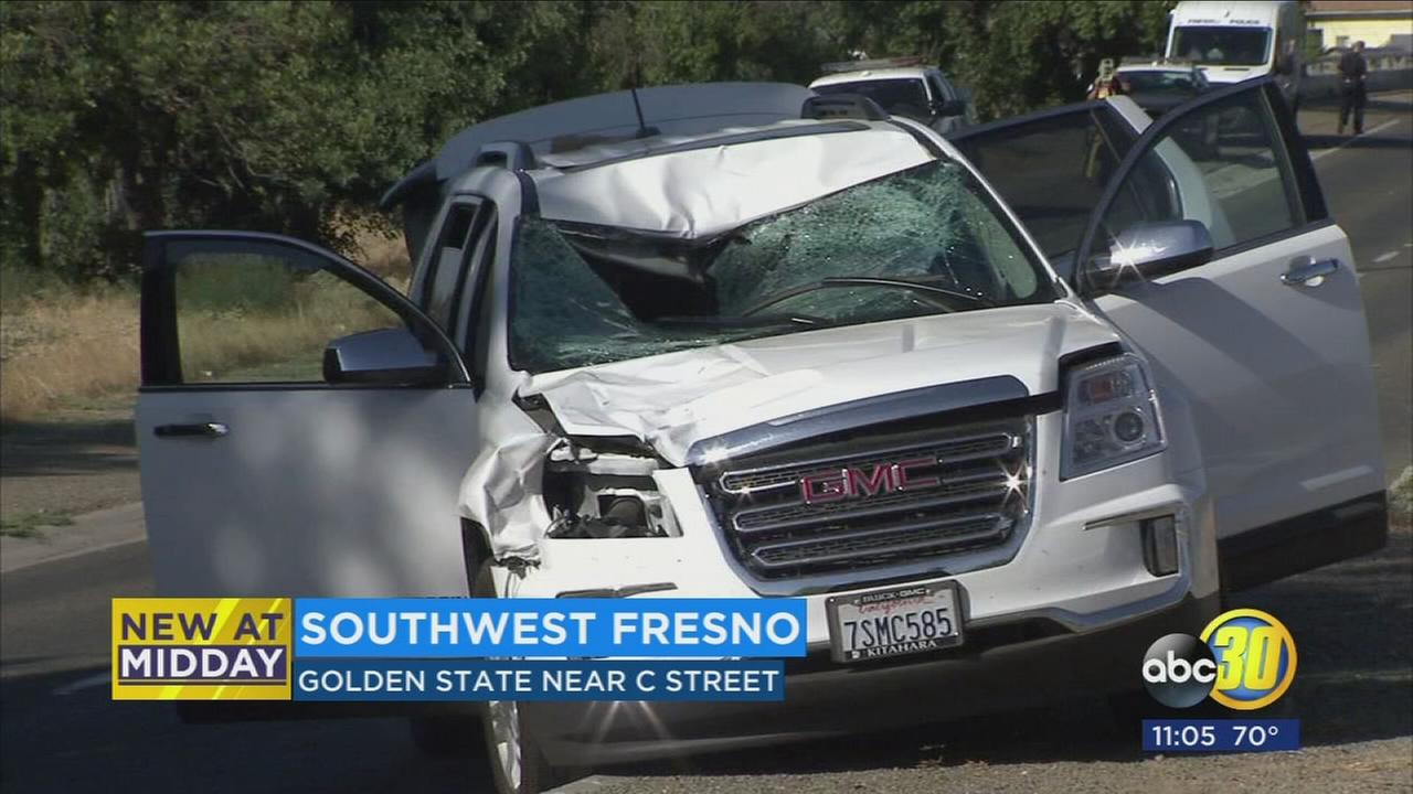Man killed after being hit by SUV while on a skate board in Southwest Fresno