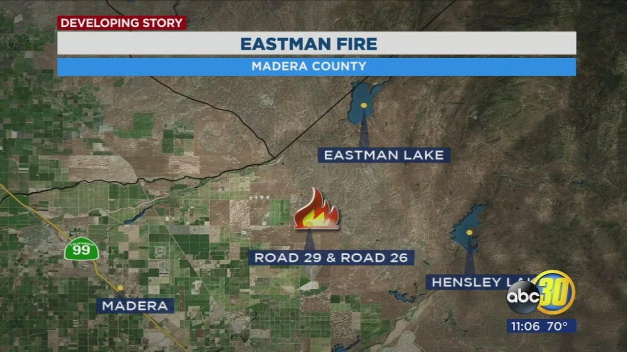 Fire crews work quickly to control Eastman Fire in Madera County
