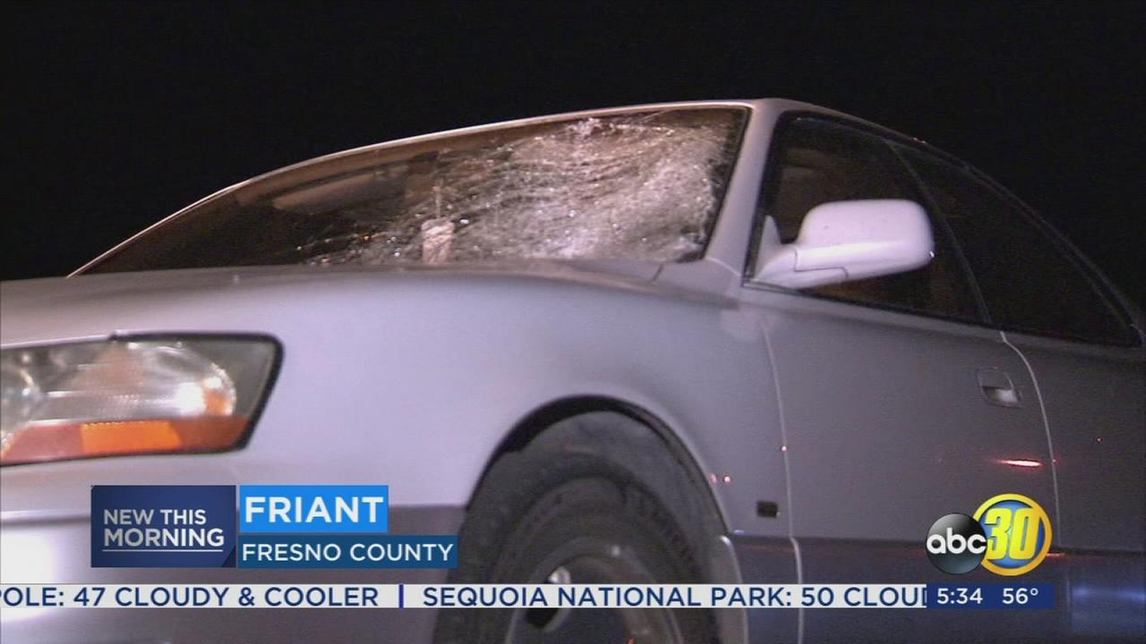Woman injured after being hit by car in Friant