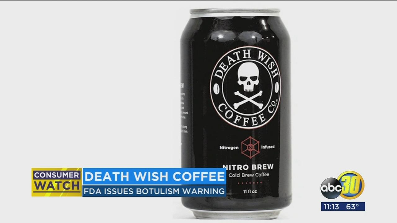 Death Wish cold brew coffee is being recalled because it could contain a deadly toxin