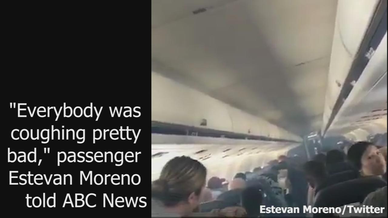 Airplane evacuated after smoke appears after landing at Fresno-Yosemite International