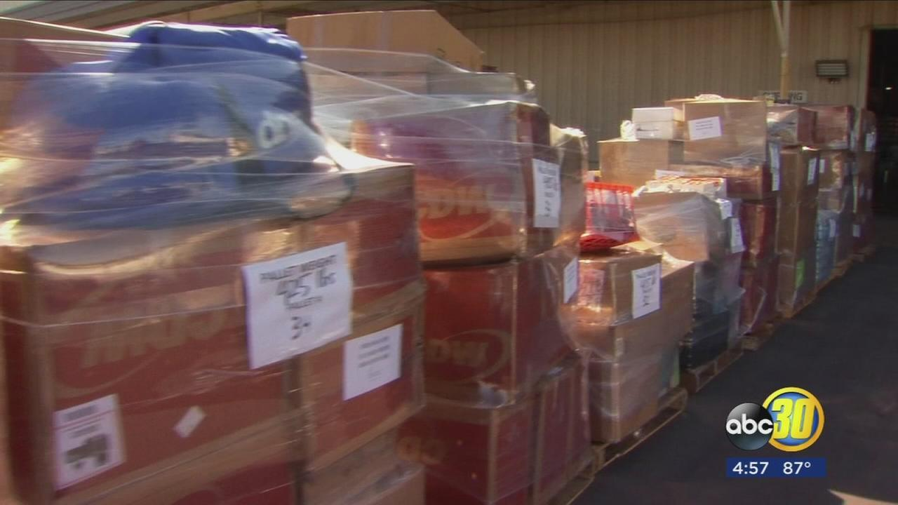 Fresno Unified collected 40,000 pounds worth of donations for Houston victims