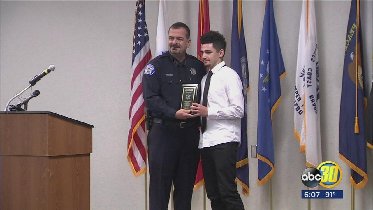 Two men who took the law into their own hands to save others received honors