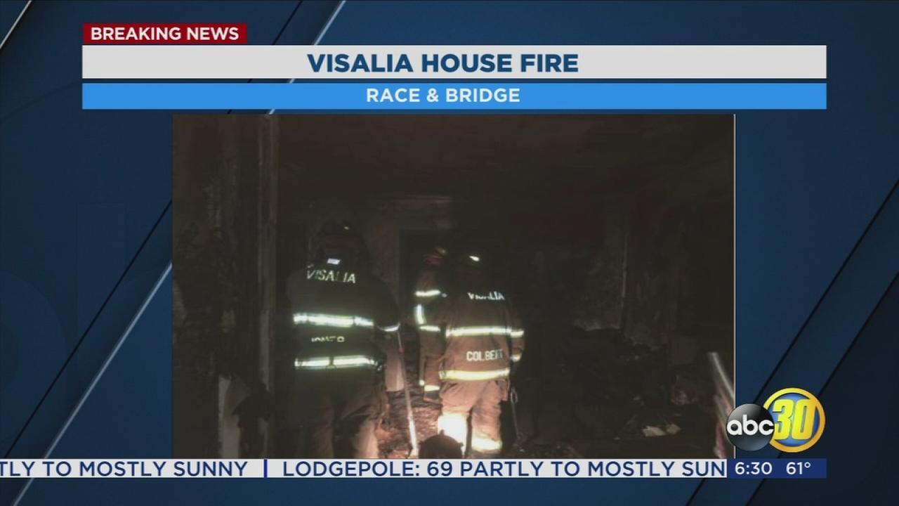 House fire in Visalia sends one to hospital for smoke inhalation