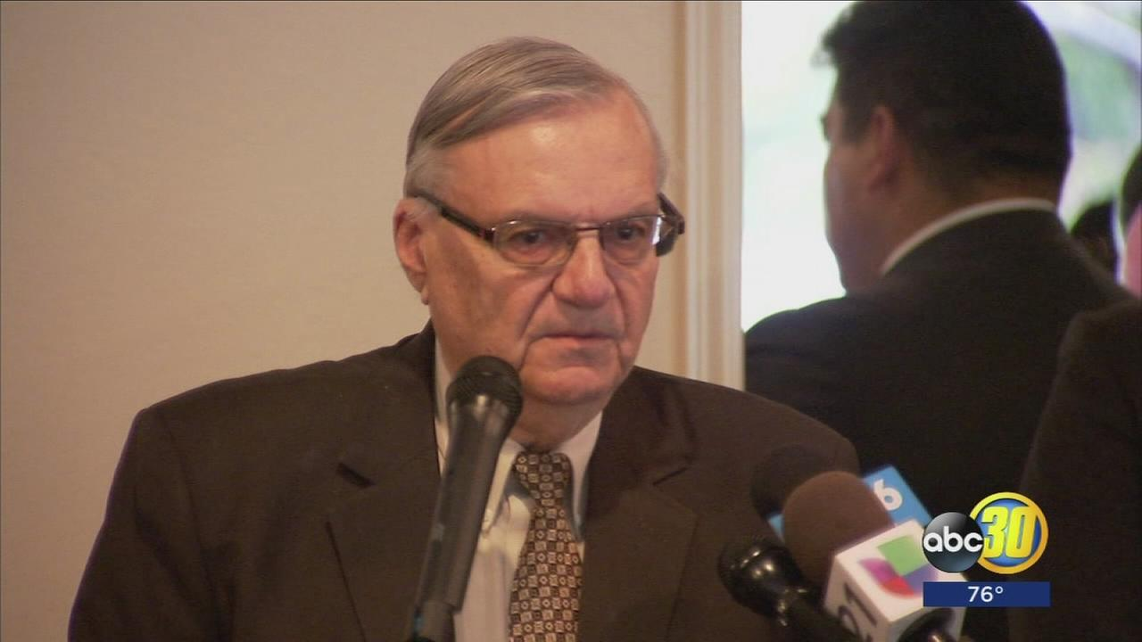 Flared tempers and protests outside, as Joe Arpaio speaks at Republican fundraiser