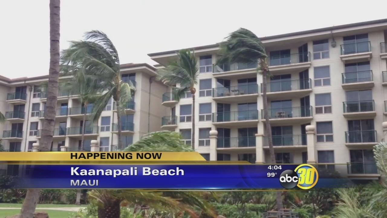 Tropical Storm Iselles impact on Maui