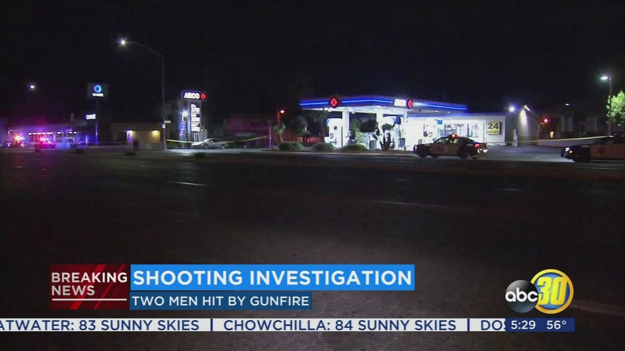 Police investigating shooting at Central Fresno gas station that leaves 2 injured