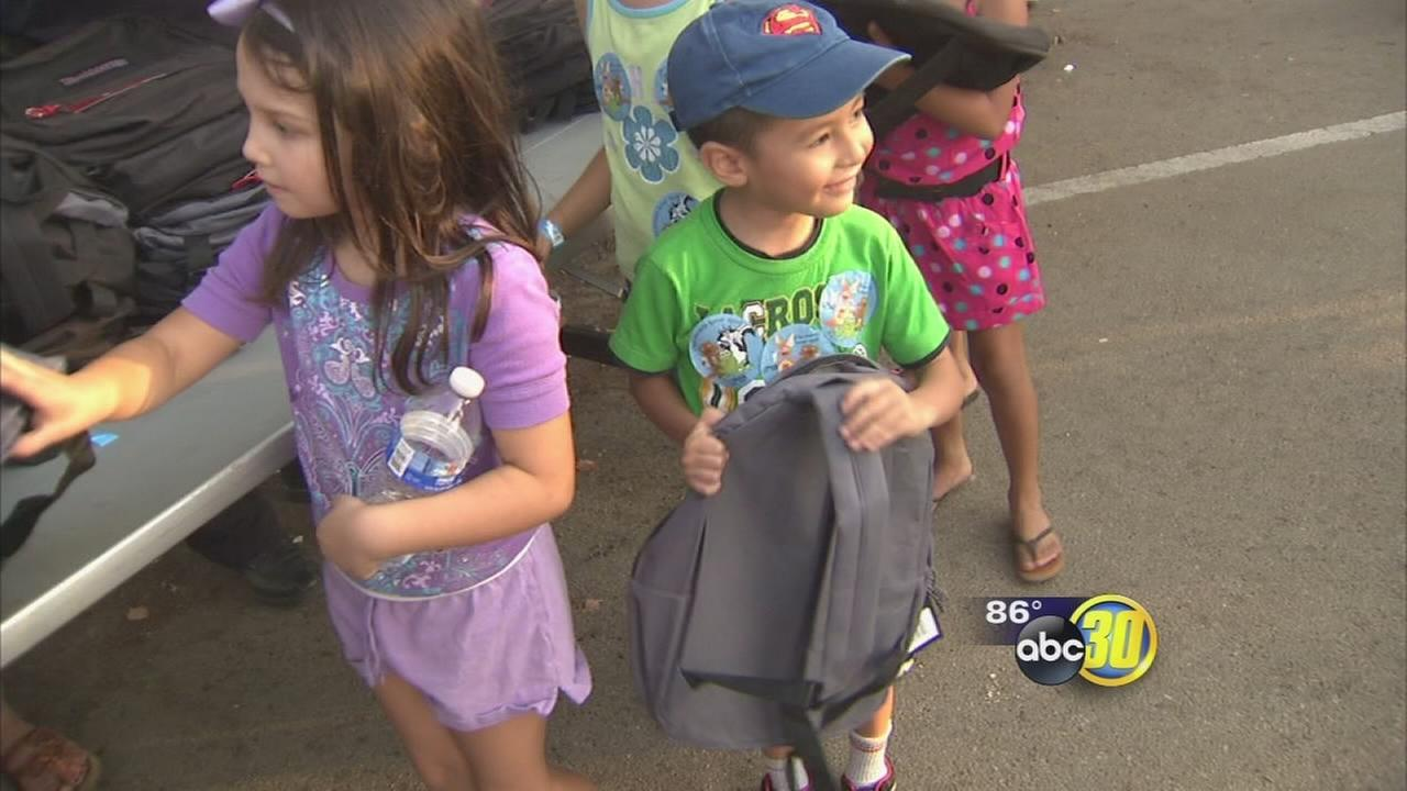 Backpack giveaway held in Downtown Fresno