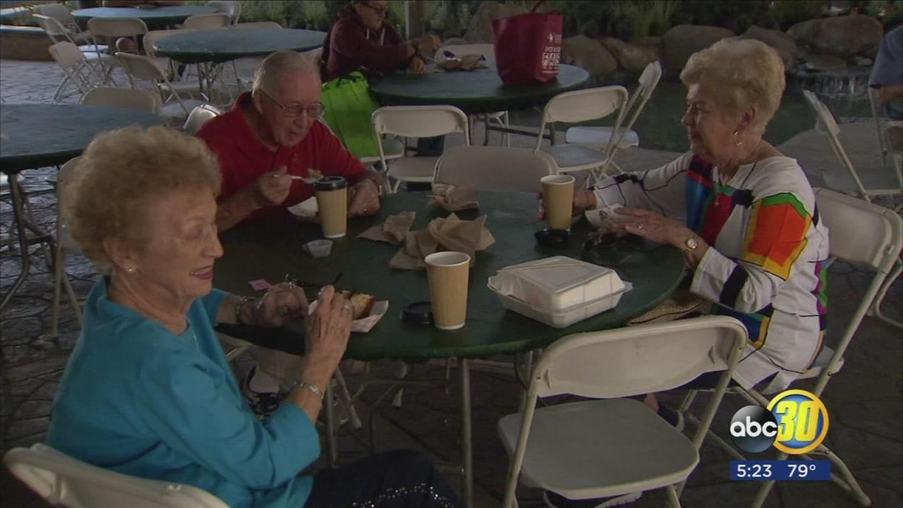 Valley senior citizens received special treatment today at the Big Fresno Fair