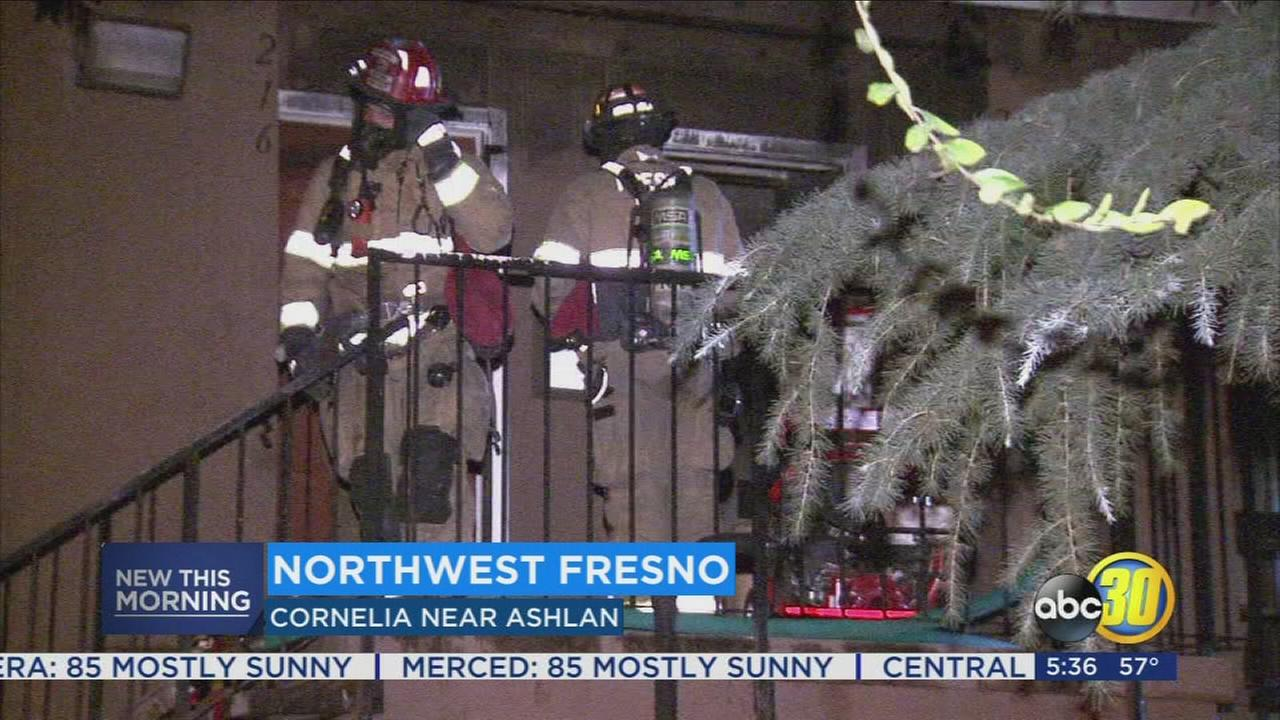 Apartment fire in West Central Fresno leaves 2 people homeless