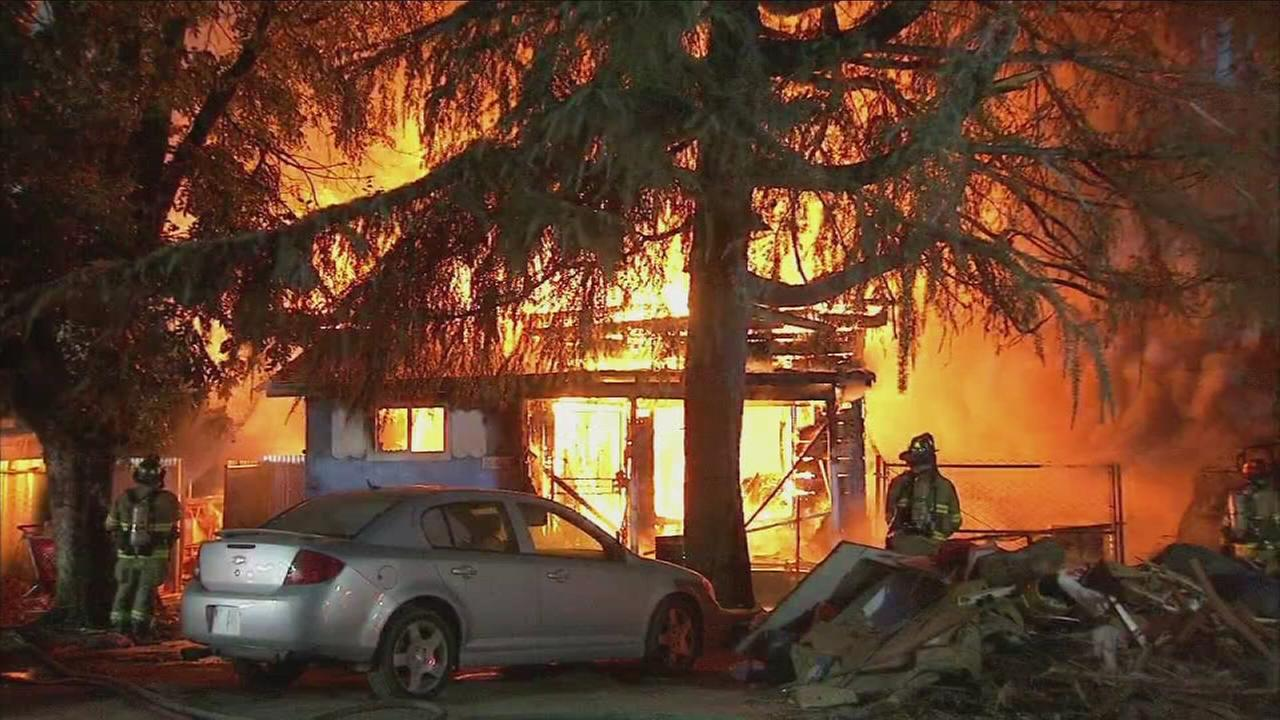 Fire crews battle abandon house fire in Southwest Fresno