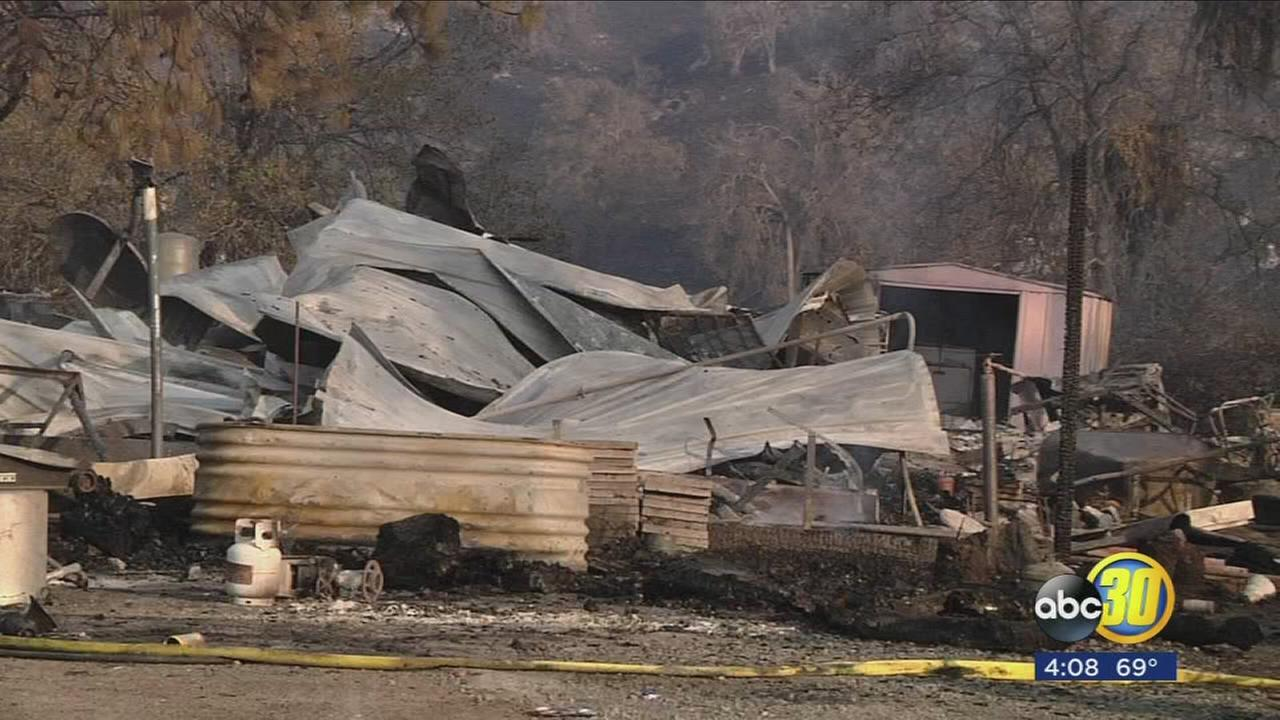 Homeowners outside of Squaw Valley returned to the area after fire forced them to evacuate