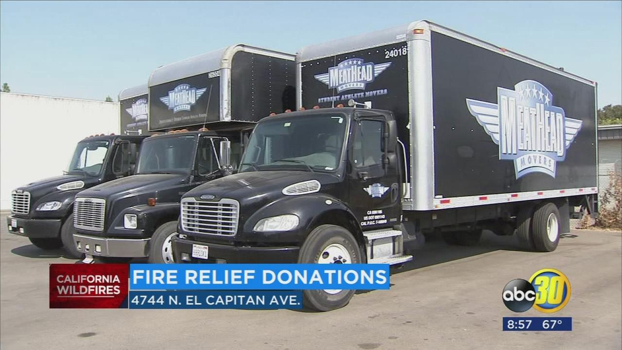 Local moving company collecting donations for Northern California fire victims