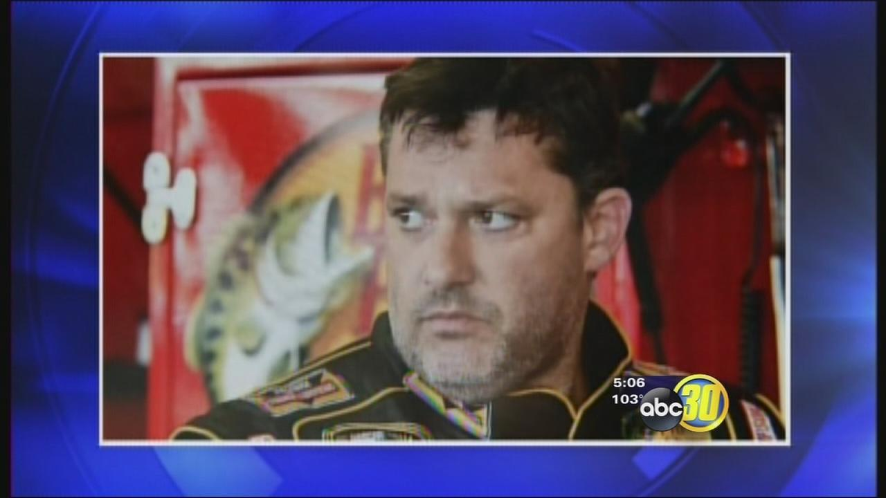 Tulare Thunderbowl Raceway stands by Tony Stewart