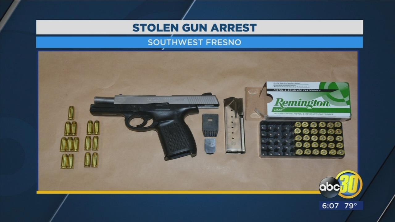 stolen gun arrest