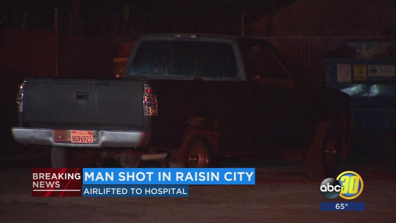 Authorities investigate a shooting in Raisin City
