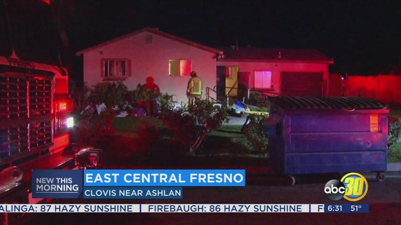 Candle sparks early morning house fire in East Central Fresno