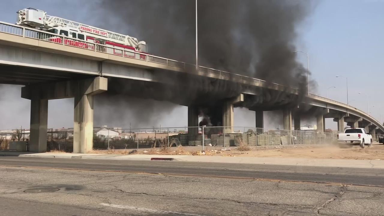 Fire crews battle two separate fires downtown