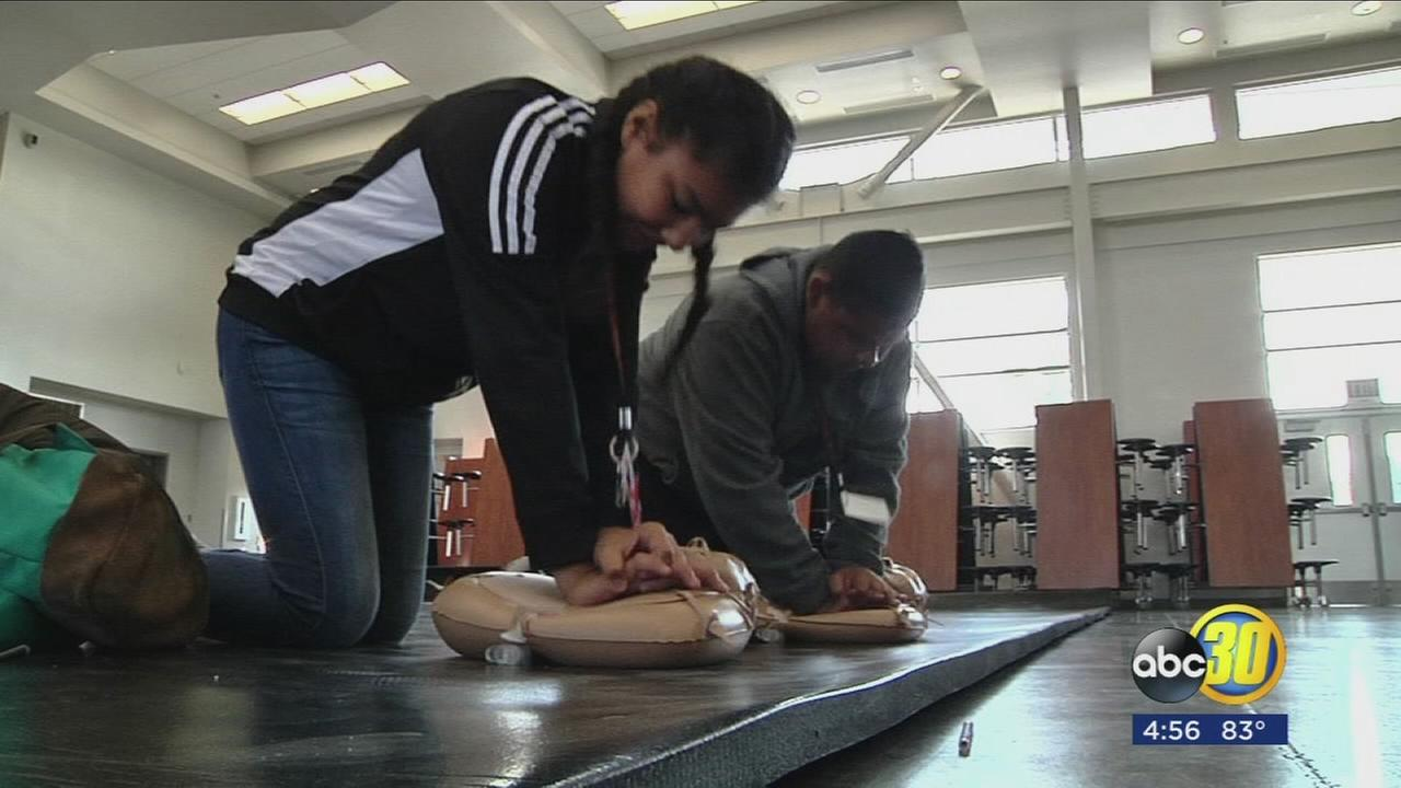 Students at Gaston Middle school receive generous donation to learn CPR