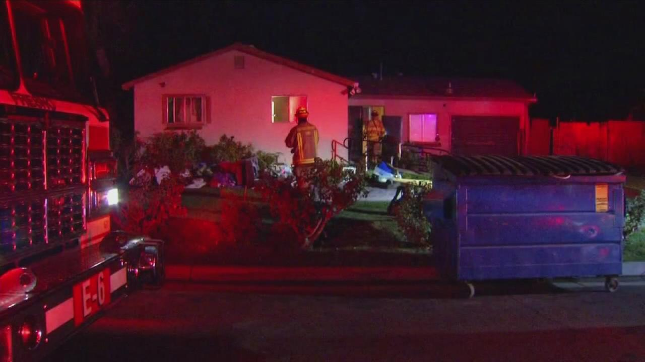Home catches fire in East-Central Fresno