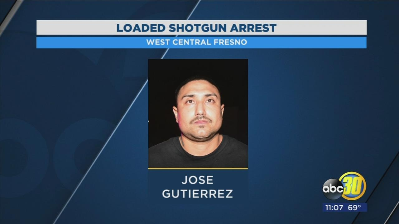Gang member arrested with sawed off shotgun in West Central Fresno
