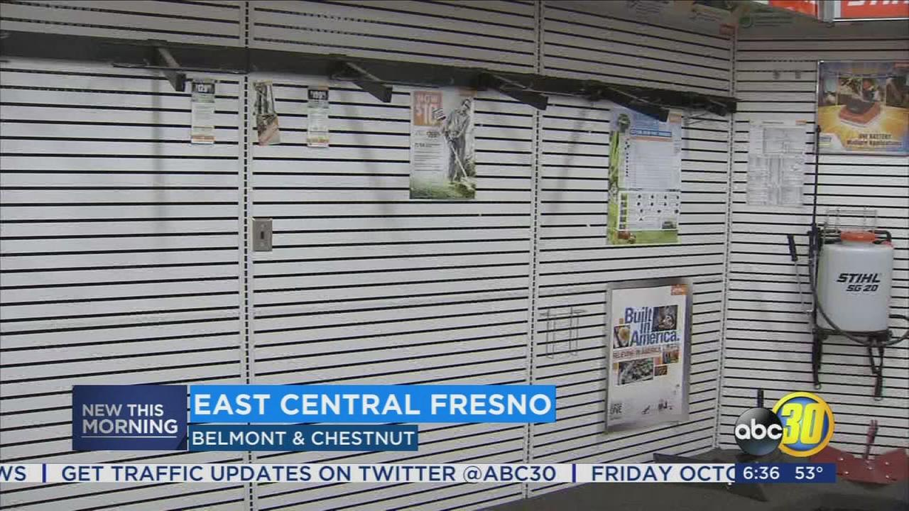 Police search for suspects connected to burglary of Central Fresno store