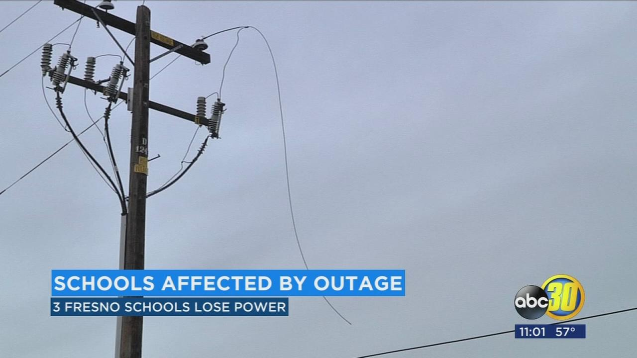 Rain led to power outages across the Valley